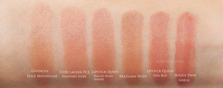 Brazilian nude lipstick swatch
