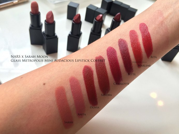 NARS Sarah Moon swatches
