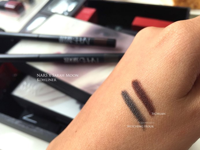 NARS Sarah Moon Kohliner swatches