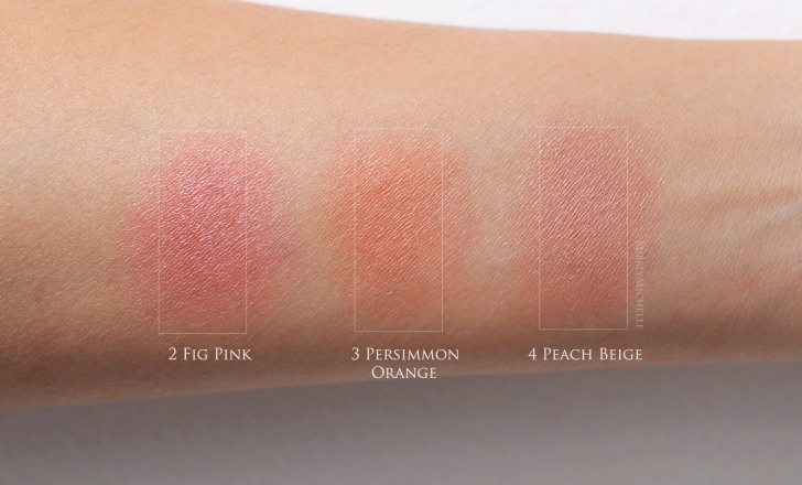 Cle de peau cream blush swatches
