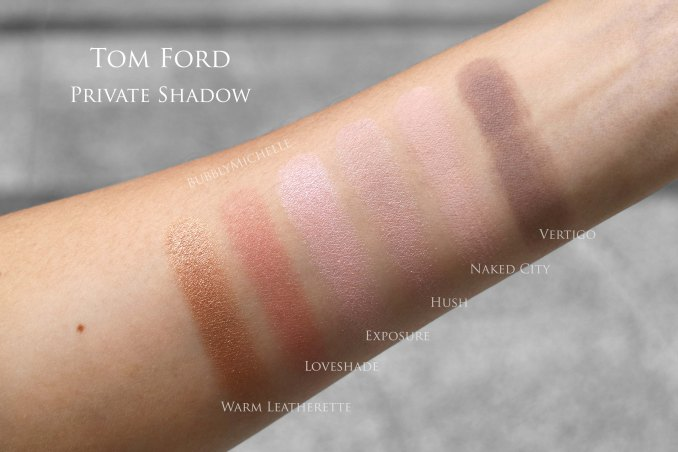 Tom ford private shadow swatch