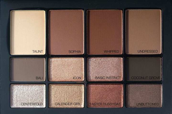 NARs Skin Deep palette swatches