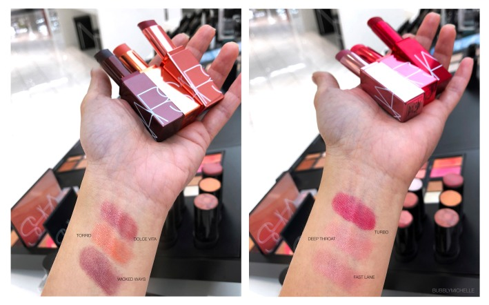 NARS Afterglow balm swatches